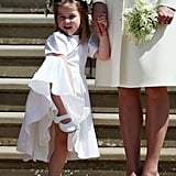 Charlotte Hammed It Up at Prince Harry and Meghan Markle's Wedding in May
