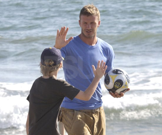 Slide Photo of David Beckham Shooting a Commercial in Santa Monica