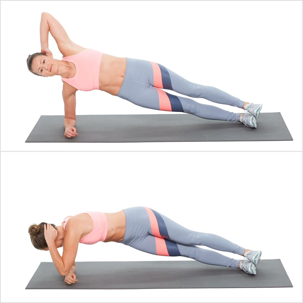Elbow Plank With a Twist Right