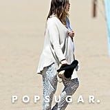 Pregnant Jessica Biel on the Beach Pictures