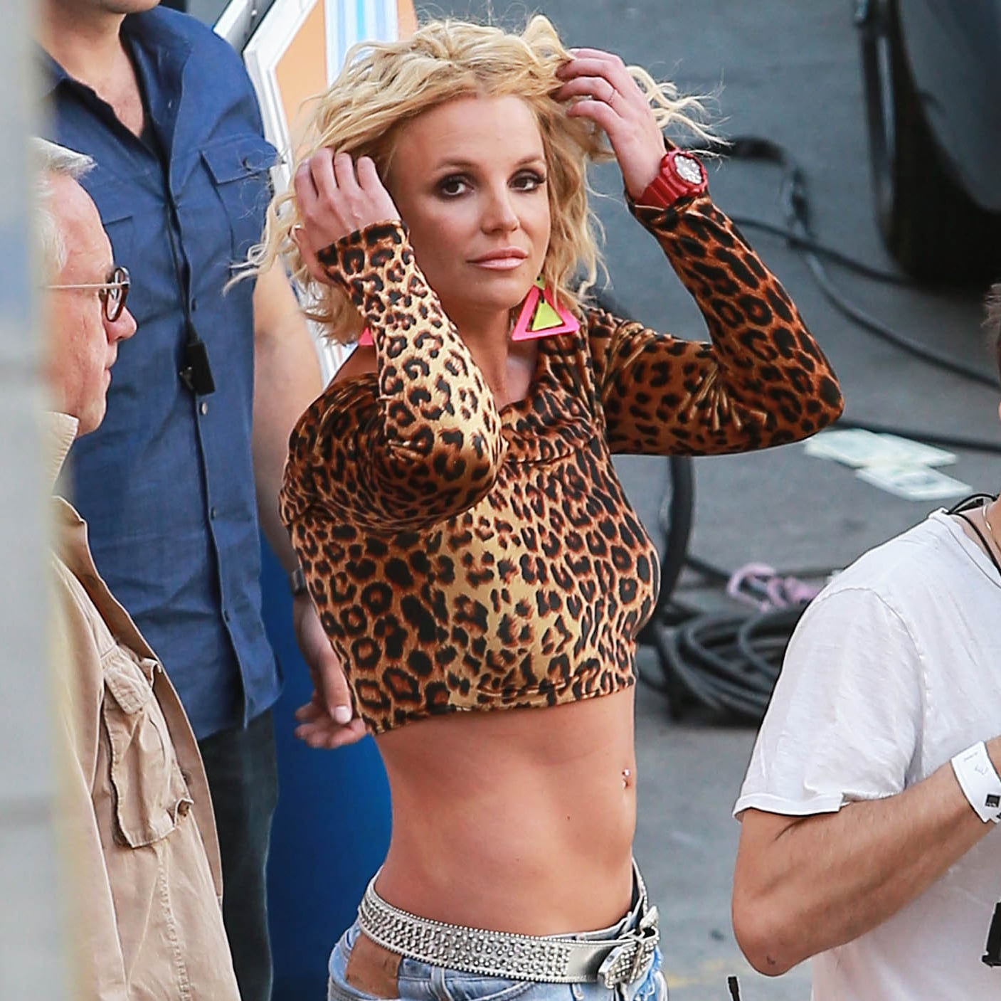 Britney spears and iggy azalea film the pretty girls video britney spears and iggy azalea film the pretty girls video popsugar celebrity voltagebd Image collections