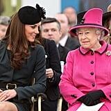 Kate Smiling at Queen Elizabeth 2012