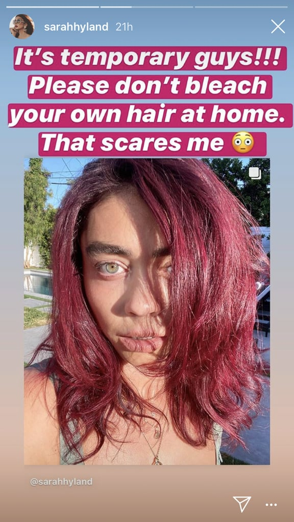 Sarah Hyland Dyed Her Hair Red at Home