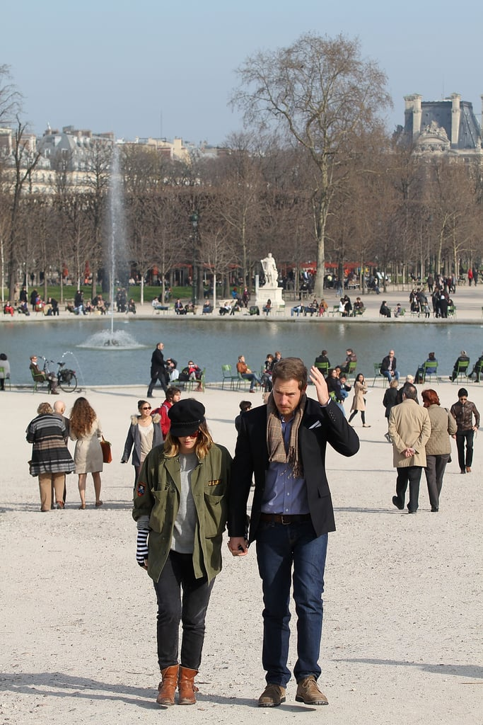 Drew Barrymore and Will Kopelman out for a walk in Paris.