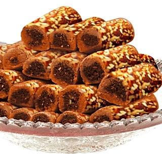 Bayara's Sugar-Free Dates & Nuts Roll (Khajur Katri)