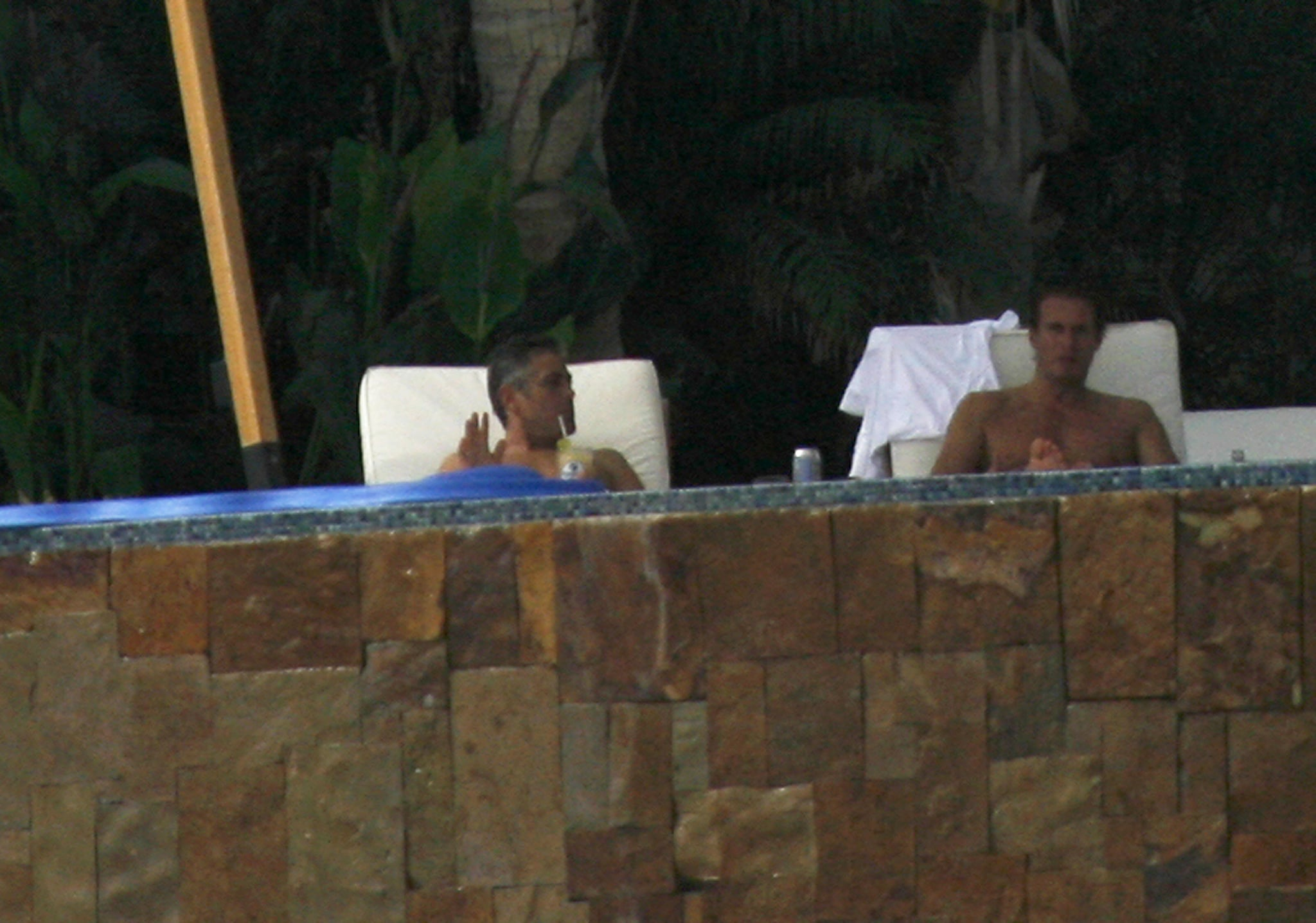 Shirtless s of George Clooney and Rande Gerber in