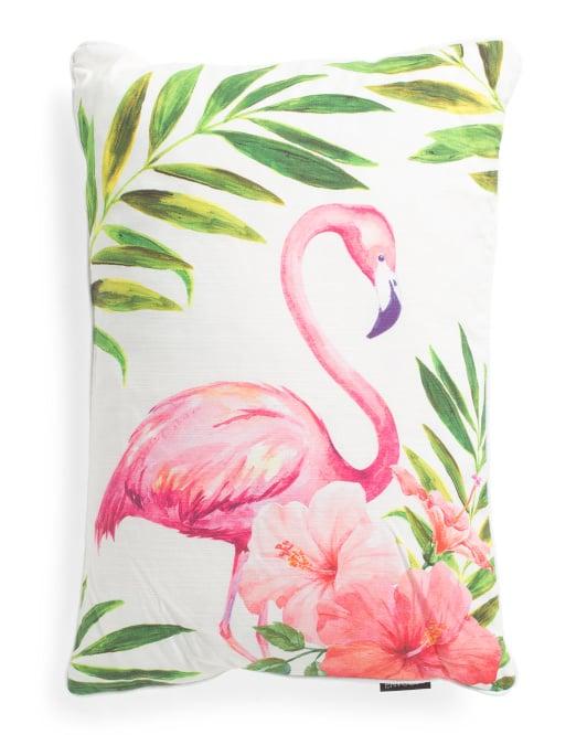 Cotton Flamingo Pillow
