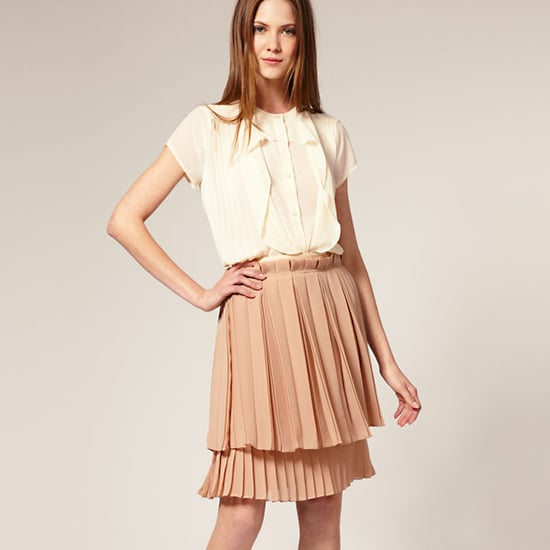 Layers of pleated crepe and a cute paperbag waist.