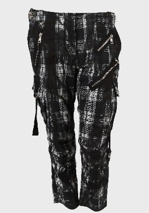 Balmain Black Check Trousers ($2,793)