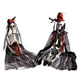 Bride and Groom Halloween Skeletons