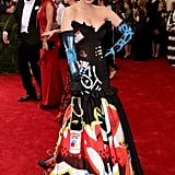 In 2015, Katy attended the Met Gala in Moschino by Jeremy Scott. The theme was China: Through the Looking Glass.