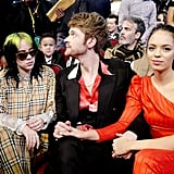Billie Eilish, Finneas O'Connell, and Claudia Sulewski at the 2019 American Music Awards