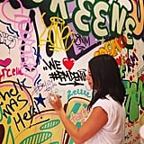 We caught Rebecca Minkoff tagging a wall!