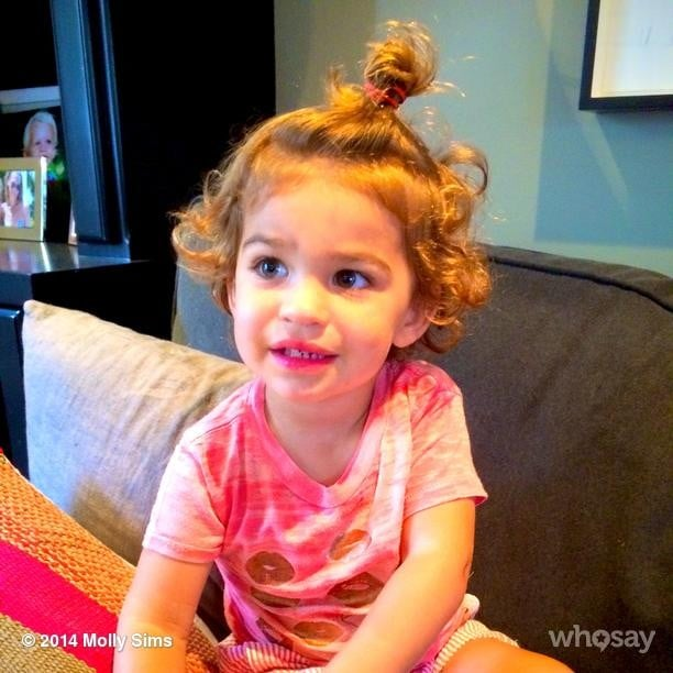 Brooks Stuber sported a sweet 'do.  Source: Instagram user mollybsims