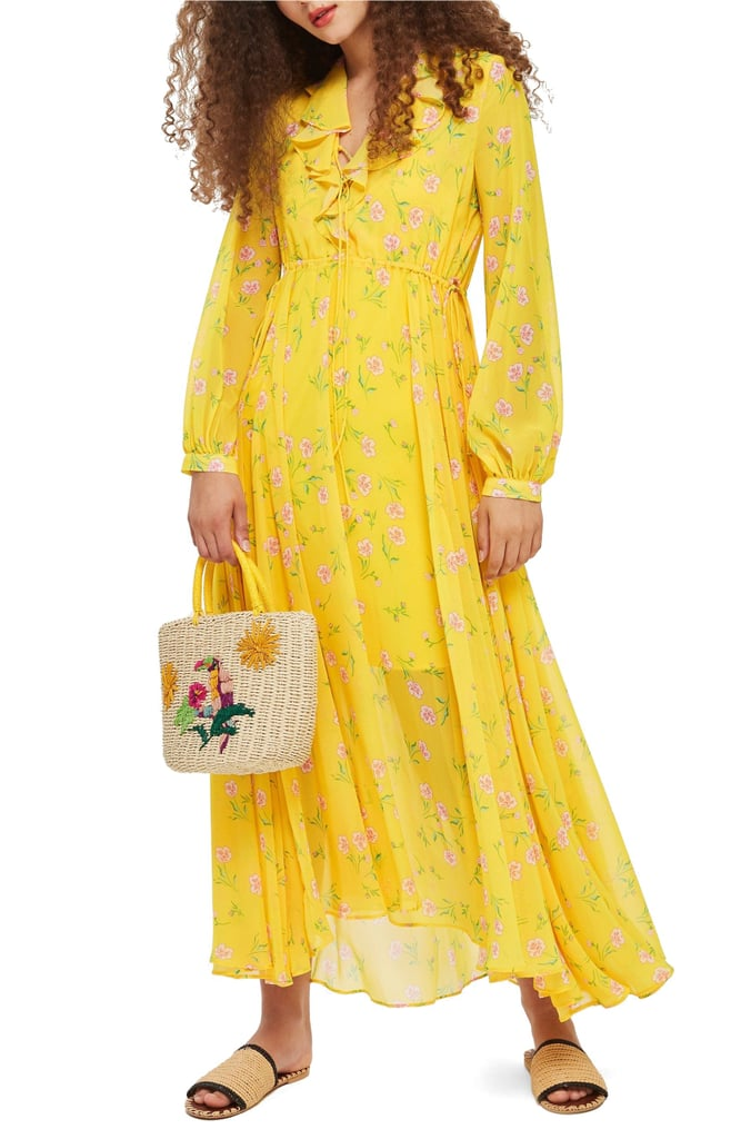 Casual Modest Dresses Yellow