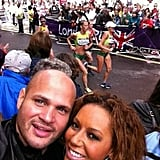 Mel B captured a photo during the women's marathon. Source: Twitter user OfficialMelB