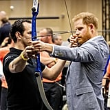 He tried archery during an Invictus Games event in May 2019.