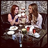 Guiliana Rancic enjoyed a cup of tea during a break from Olympic action.  Source: Instagram user willmarfuggi