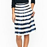 The navy lines in this skirt look penciled in, which offers a playful embellishment to a traditional design. J. Crew Painted Rope Skirt ($198)