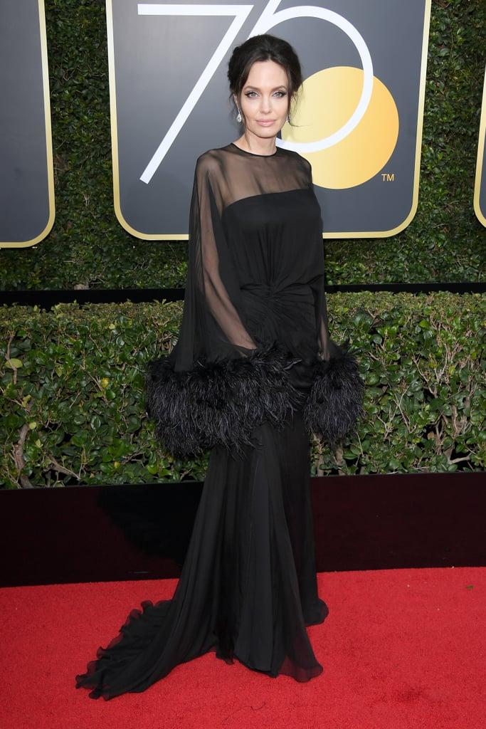 Angelina Jolie and Son Pax at the 2018 Golden Globes ...