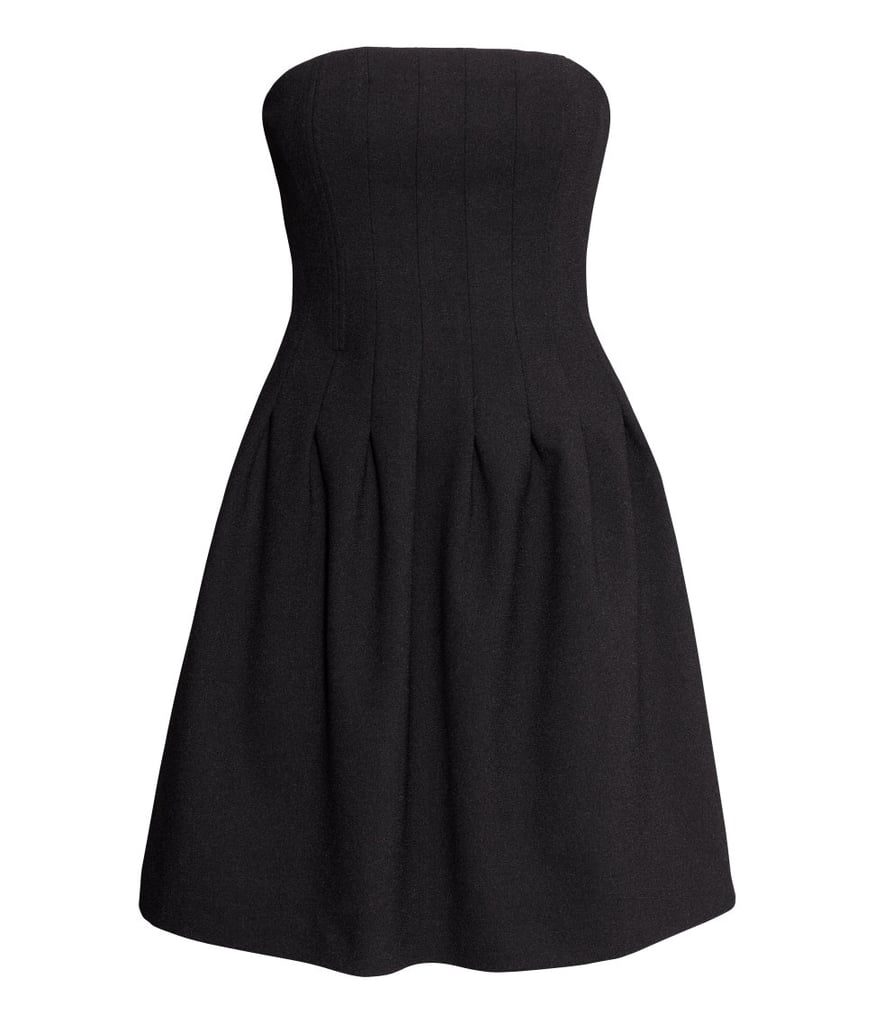 H&M Strapless Crepe Dress