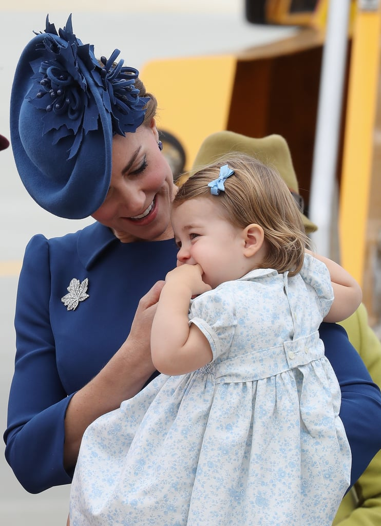 When She Soothed Charlotte as They Landed in Canada in September 2016