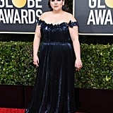 Beanie Feldstein at the Golden Globes 2020