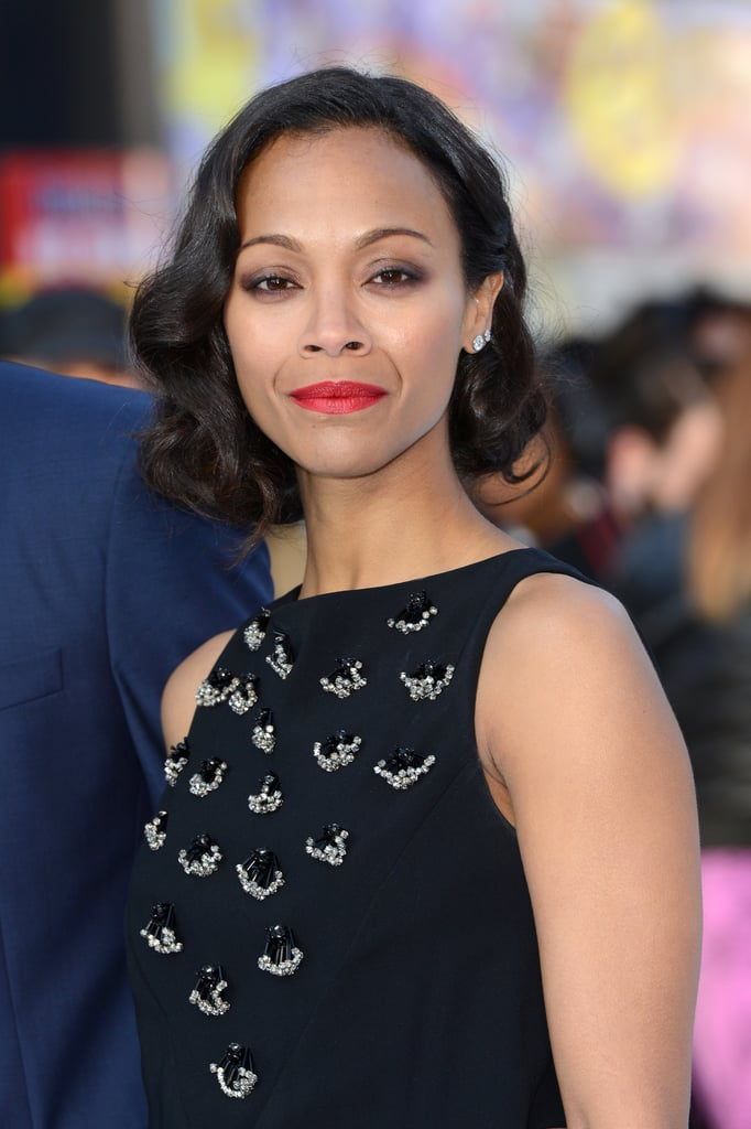 We were convinced Zoe Saldana had cut her hair when she showed off this style at the UK premiere of Star Trek Into Darkness, but it turned out if was a very clever faux bob. A retro roller set is the basis of this vintage-inspired look.