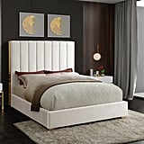 Aeliana Velvet Upholstered Platform Bed