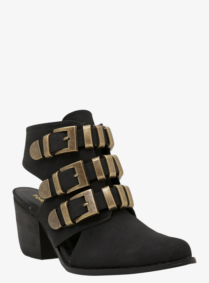 Torrid Triple Buckle Cutout Booties