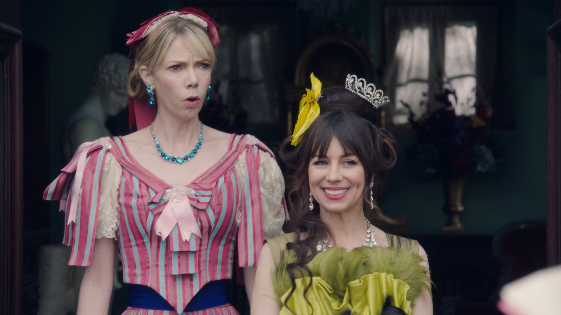 ANOTHER PERIOD, from left: Riki Lindhome, Natasha Leggero, 'Sex Nickelodeon', (Season 3, ep. 307, airs March 6, 2018). photo: Comedy Central/courtesy Everett Collection