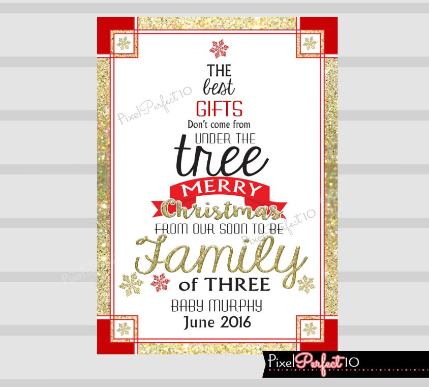 Gifts Under the Tree Christmas Card | Cute Holiday Pregnancy ...
