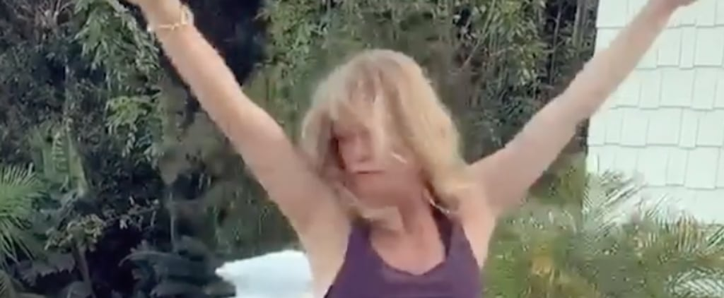"Watch Goldie Hawn Energetically Dance to ""Dance Monkey"""