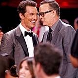 Tom Hanks made Matthew McConaughey laugh.
