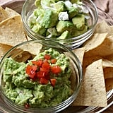Serrano Pepper Guacamole and Crumbled Feta Guacamole
