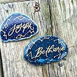 Starry Night Agate Place Cards