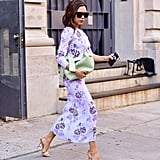 Victoria Showed Off an Exclusive Floral-Print Dress