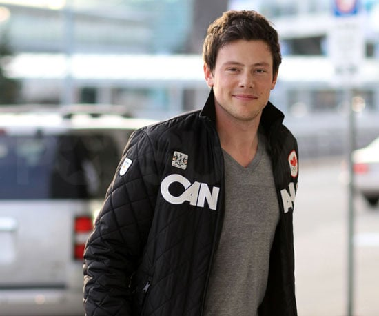 Slide Photo of Corey Monteith Leaving Olympics