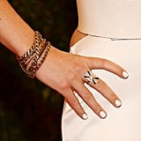 Olivia Wilde added subtle glitz with Fred Leighton jewels.