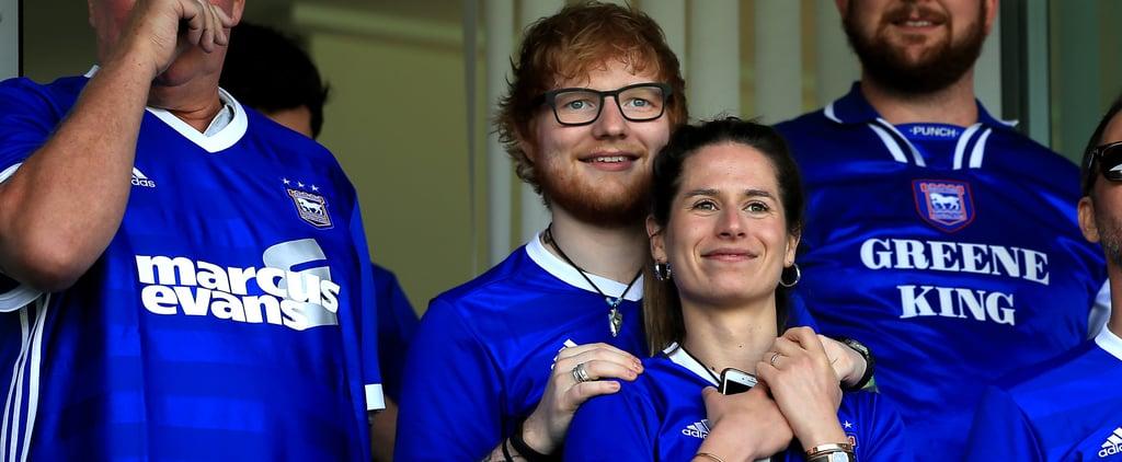 Ed Sheeran and Cherry Seaborn at Sky Bet Championship Match