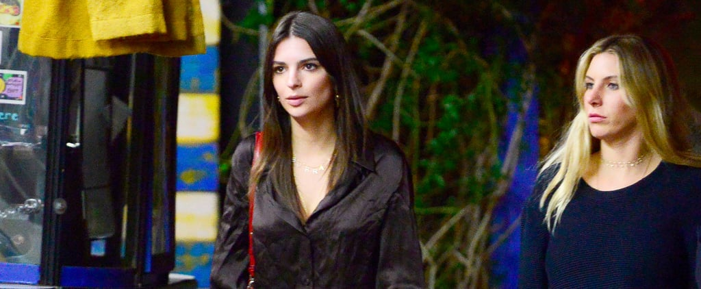 Emily Ratajkowski Wouldn't Wear These Track Pants With Sneakers If Her Life Depended on It
