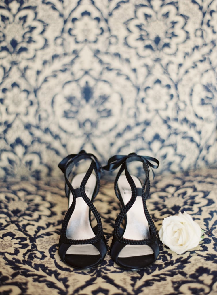 38. Shoes on Printed Background