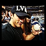Michael Trevino got an autographed baseball from Nick Swisher.  Source: Instagram user michael_trevino