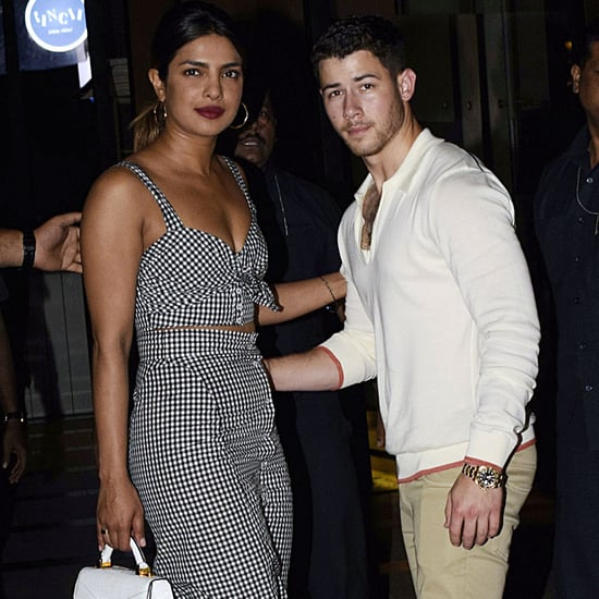 Priyanka Chopra Gingham Skirt Set With Nick Jonas in Mumbai