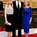 Whiplash star JK Simmons brought his wife Michelle and daughter Olivia as his lovely dates to the SAG Awards.