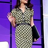 Amal Clooney Diane von Furstenberg Printed Dress