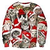 Raisevern Unisex Funny Print Ugly Christmas Sweater