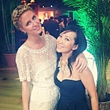 Nicky Hilton attended an industry party with Bag Snob editor Tina Craig. Source: Instagram user nickyhilton