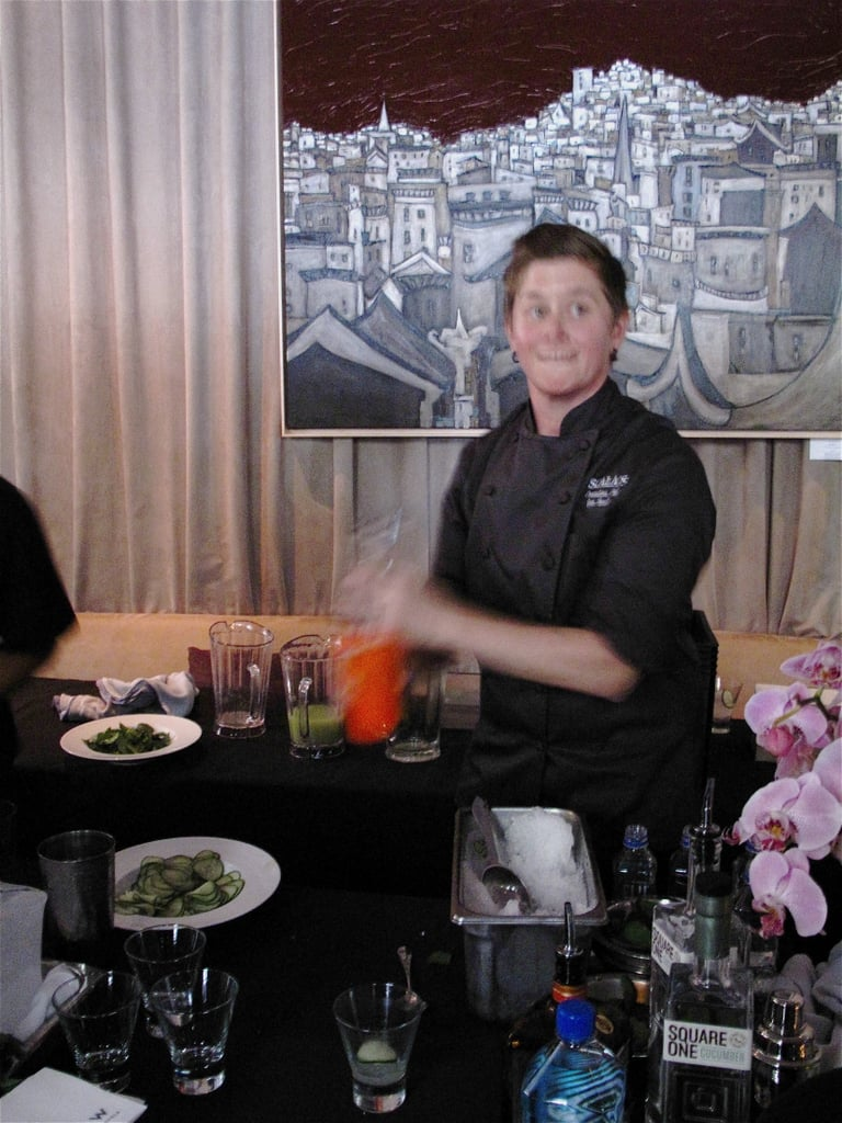 Top Chef alum Jen Biesty said her cocktail was inspired by the facials at the city's famed Nob Hill Spa.
