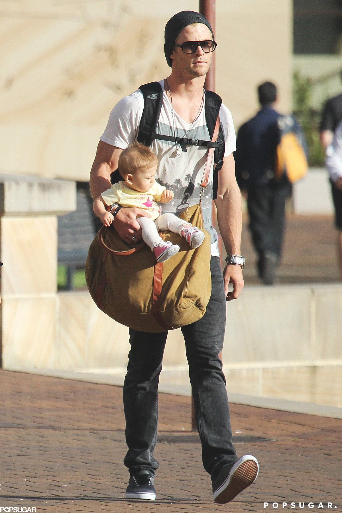 Chris Hemsworth and Elsa Pataky Stroll in Sydney With Baby India